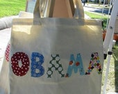 Rainbow Obama Tote Market Bag