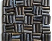 100 - Empty 22 Caliber Tarnished Patina Dark Brass Bullet Shell Casings  - Reclaimed Supplies for Assemblage, Altered Art or Sculpture
