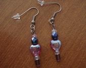 SALE grape fizz earrings