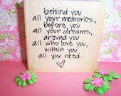 Rubber Romance UNMOUNTED Stamp- Behind your dreams Saying