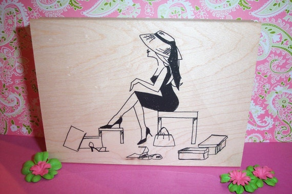 Rubber Romance UNMOUNTED Stamp - Vivian LOVES her Shoes