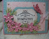 Handmade card With Deepest Sympathy