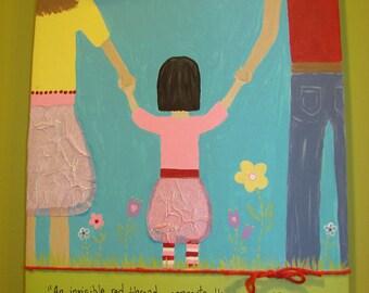 Gotcha Day CUSTOM adoption canvas - 11x14