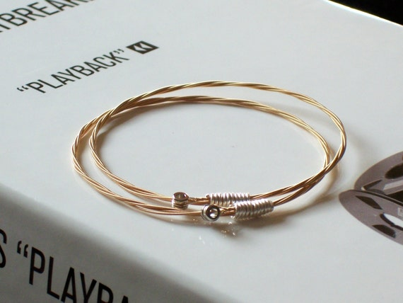 Guitar String Bangle Bracelet Set 8