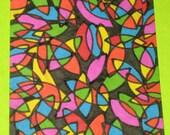 Original Drawing ACEO Multi Colored Design
