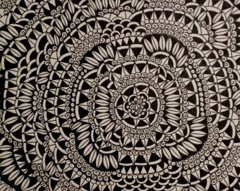 Original Ink Drawing ABSTRACT DESIGN