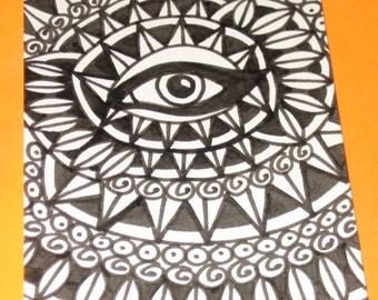 Original Drawing ACEO Eye Design