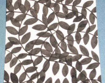 Original Drawing ACEO Black Vines