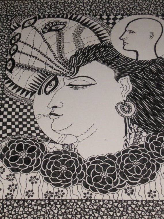 Pen and Ink Drawing...THE GURU