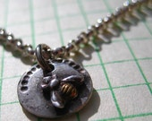Fine Silver Bee Charm with Gold Plating