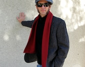 BE My Valentine Red Wool Scarf For Men