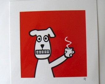 Coffee Dog unframed