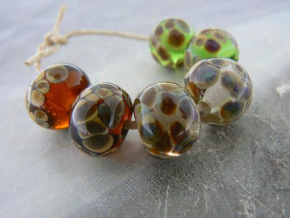 Raku Glass Lampwork Beads Earring Pairs....