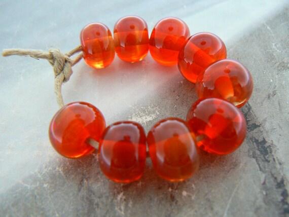 Sweet Cherry Rounds Handmade Lampwork Glass Beads