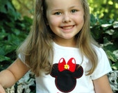 Miss Mouse Appliqued Personalized T-Shirt