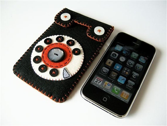 Phone iPhone 3G case No.29 (black\/orange)
