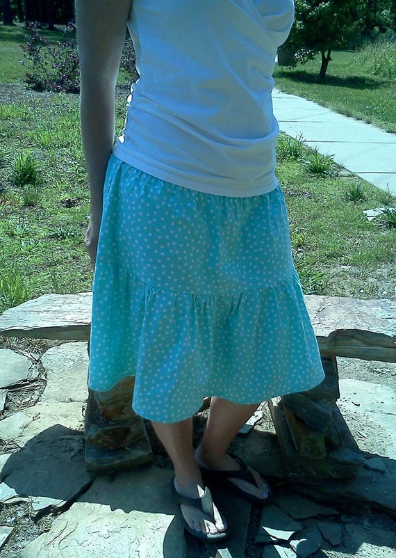 pdf Skirt Sewing Pattern - Aivilo Shirred Skirt - 3 Styles - easy to sew - All sizes from baby to plus - instant download