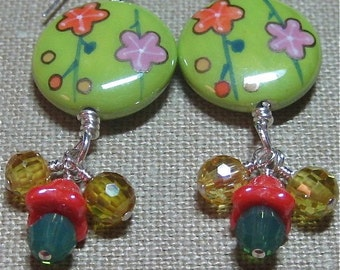 Counting on Spring Flowers Earrings - E639