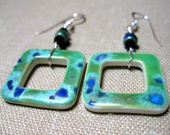 Not Just for Squares Spotted Porcelain Earrings - E739