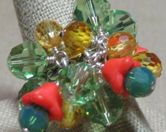 Counting on Spring Flowers Cluster Ring - R172