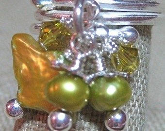 SALE - A Touch of Lime Dangle Ring - R067