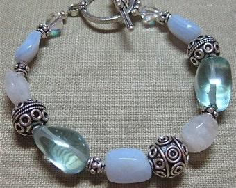 SALE Big Blue Bali Bracelet - B038