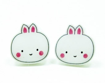 Bunny Earrings | Sterling Silver Posts Studs | Gifts For Her