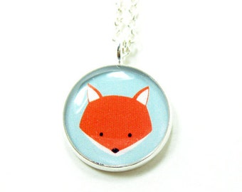 Fox Necklace - Silver Plated 17 inch