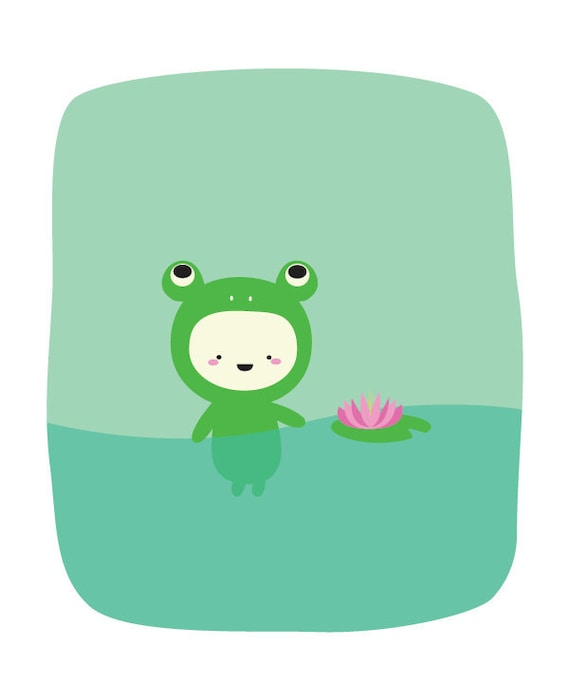 Frog in Pond 8x10 Print