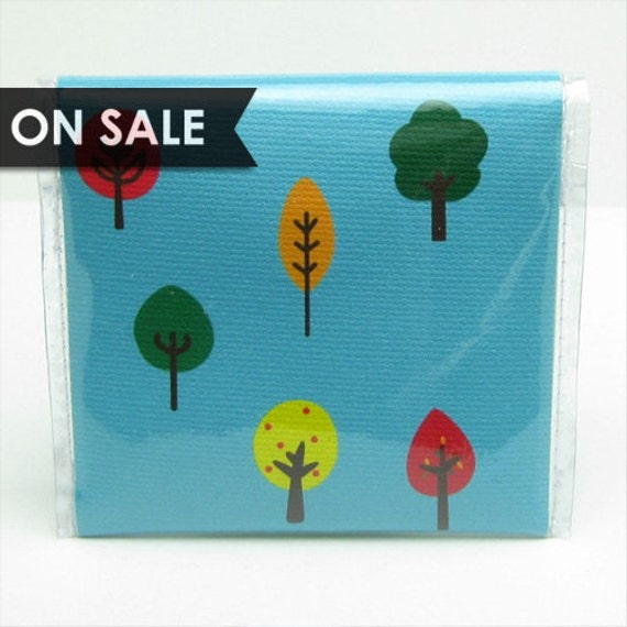 SALE - Tree Coin Pouch - Vinyl Canvas Snap Change Purse Wallet