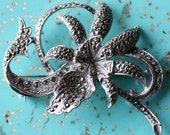 Marcasite Orchid Pin