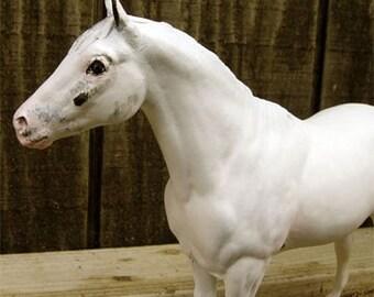Custom Traditional Size Breyer Solid Coat Patterns // Custom Breyer Horse // Model Horse // LSQ PSQ // Chestnut // Bay // 1:12 Scale