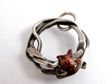 CS6 Sterling Tangle with Copper Star Charm by simplymega