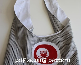 Child's sling tote - PDF sewing pattern