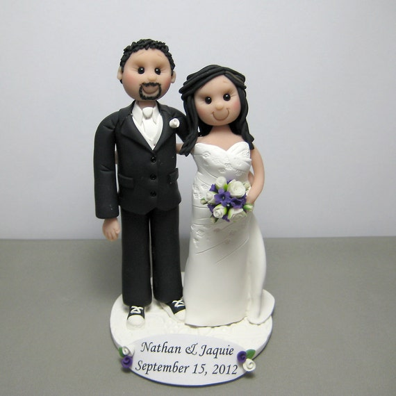 Reserved for Jaquie Wedding Cake Topper decoration figurine custom made