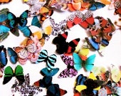 140 Paper Butterflies, Embellishment For scrapbooking, DIY butterfly wedding, baby showers, DIY ACEO, school kits, wall art, cupcake toppers