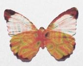 24 Retro Orange Butterfly Paper Embellishment For Scrapbooking