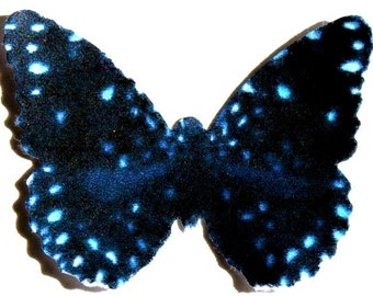 24 Twilight blue constellation butterflies for school kit, DIY butterfly wedding, baby showers, cupcake toppers, butterfly wall decor,