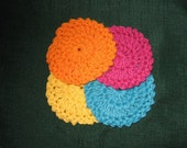 Can You Say Pretty Colors  Crochet Facial Scrubbies Lot of 20 ON SALE Limited time only
