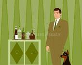 Man's Best Friend - Original Print by Kerry Beary