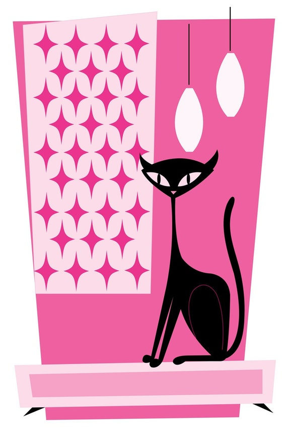 Scat Cat Limited Edition Print by Kerry Beary