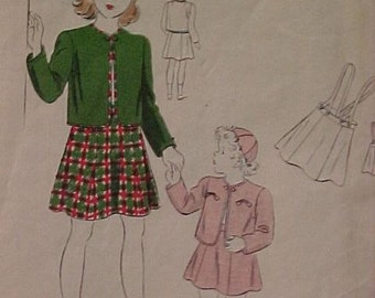 Vintage Vogue Sewing Pattern Girls