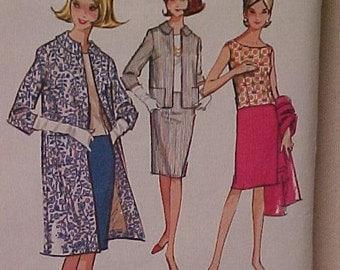 Vintage Pattern Misses Top Skirt and Jacket UNCUT