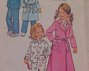 Pattern for Girls and Boys Pajamas and Robe