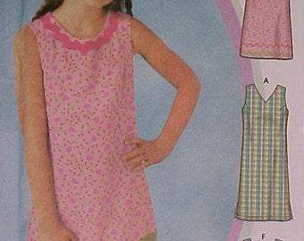 Girls Dress and Purse Pattern UNCUT sz 7 thru 14