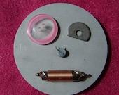 Miz Metal Head Maude - robot head magnet