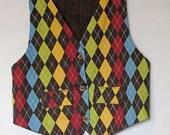 Gents and Ladies Reversible Vest Sewing Pattern PDF epattern. Boy, Girl, Baby.  Size Newborn-12