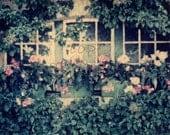 Midsummer Dream, Buchart Gardens, BC, Canada - Original Polaroid Image Transfer in 8x10 archival mat