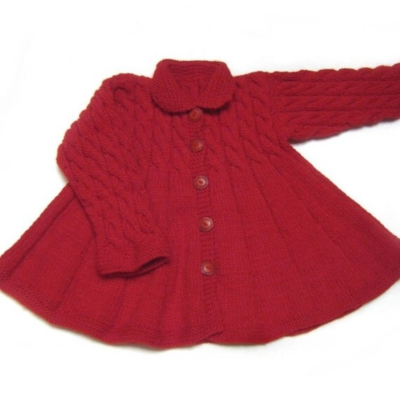 Sweater jacket swing coat for baby girl, 18 to 24 months