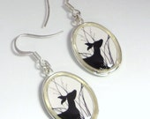 Daphine Doe Earrings. Original gogingin Silhouette Forest Friends Image